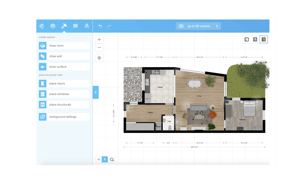 Floorplanner - Create 2D & 3D floorplans for real estate ... on little house floor plans, cabin with loft plans free, little house blueprints free, little house layout, ranch home plans free, little house trailer plans, window seat plans free, rocking chair plans free, outhouse plans free,